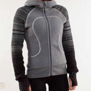 Lululemon Spacial Edition Knit Gray Scuba Hoodie